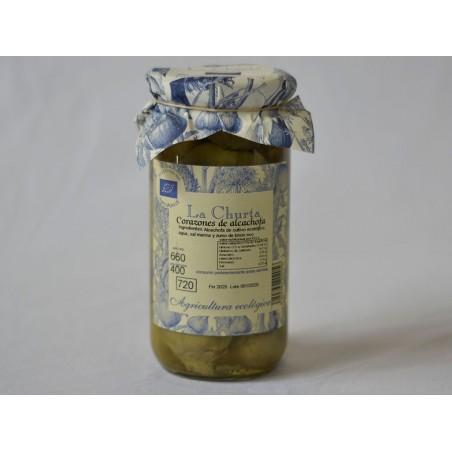 Organic Artichoke hearts 660g