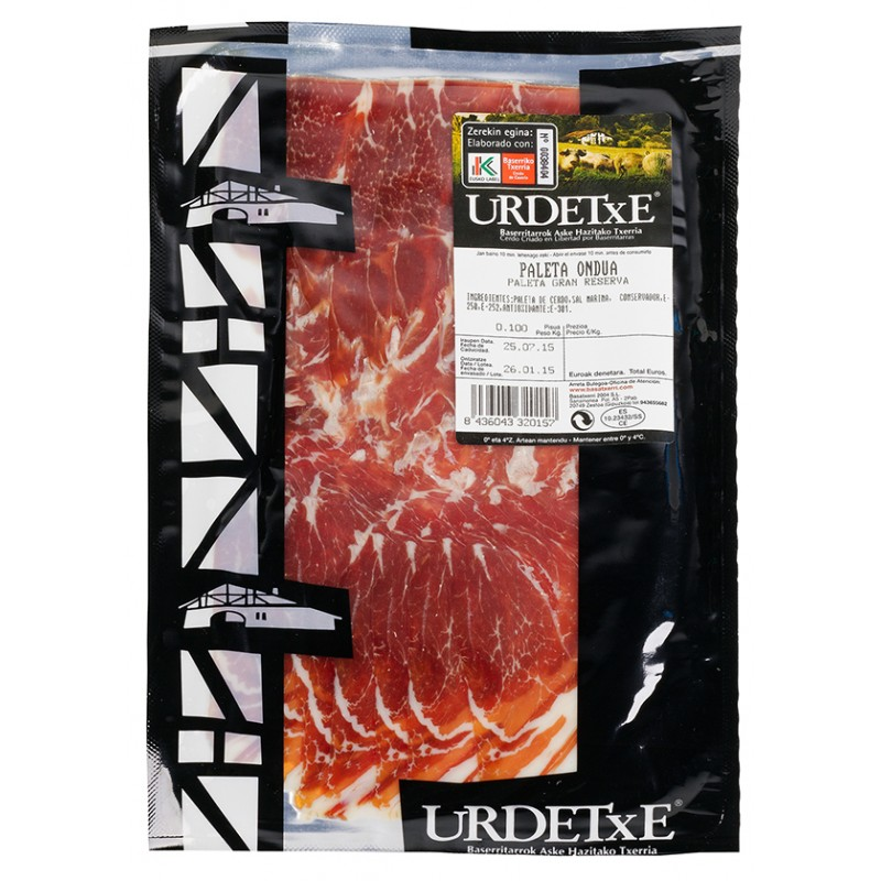 Cured Paleta Slices 100g by Urdetxe